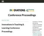 Screen shot of the Innovations in Teaching & Learning Conference Proceedings.