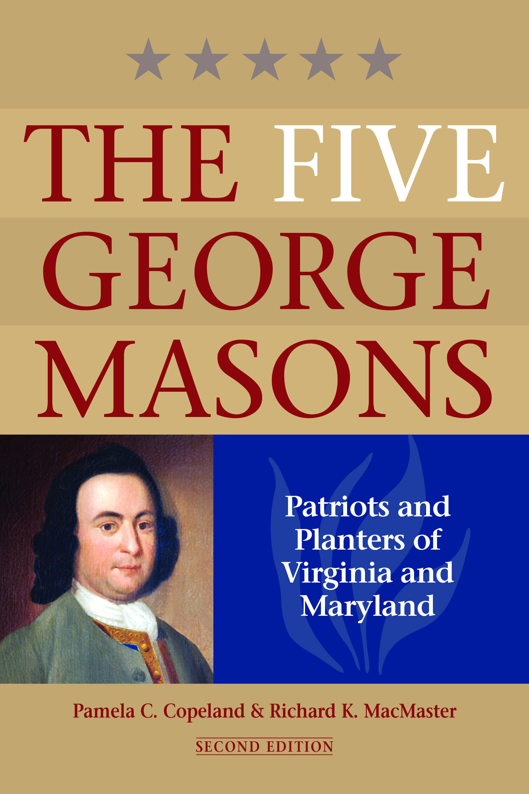 Cover of The Five George Masons, featuring a portrait of George Mason IV.