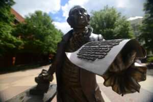Statue of George Mason at George Mason University