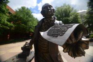 Statue of George Mason at George Mason University