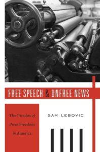 Book cover: Free Speech and Unfree News